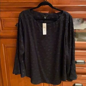 Ann Taylor brand new blouse with bell sleeve